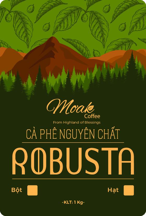 Cà phê hạt rang nguyên chất Robusta