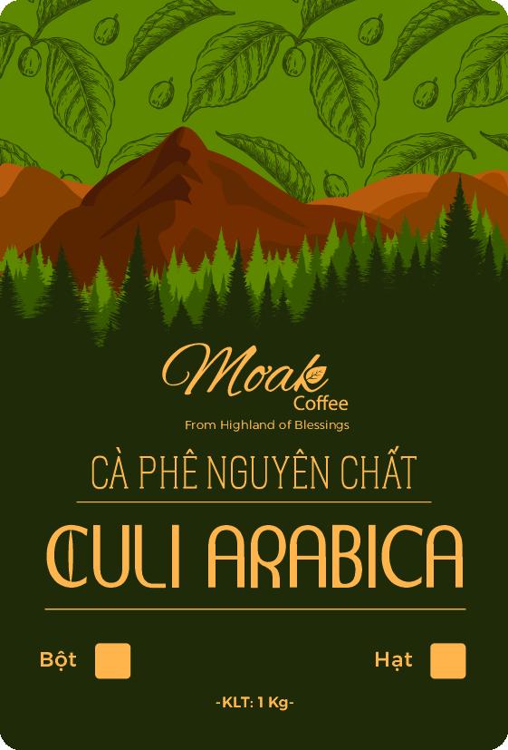Cà phê hạt rang Culi Arabia nguyên chất