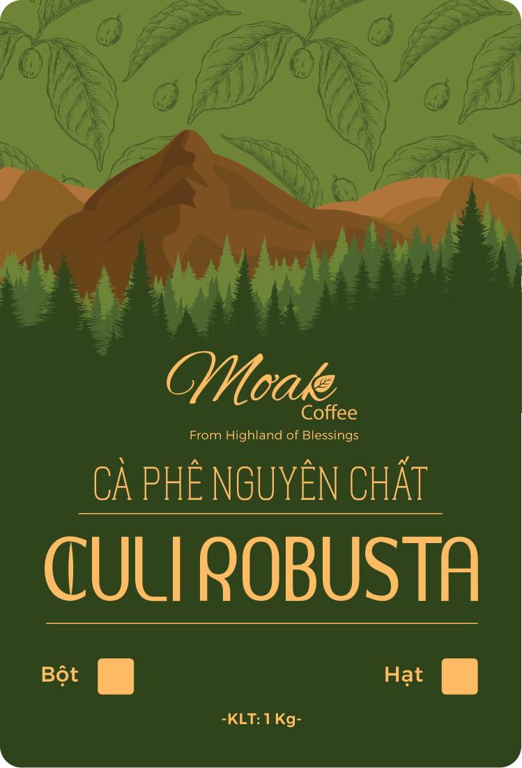 Cà phê hạt rang Culi Robusta nguyên chất