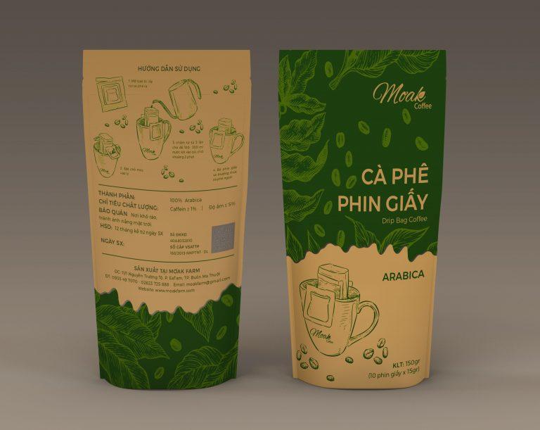 Cà phê phin giấy Moak Coffee